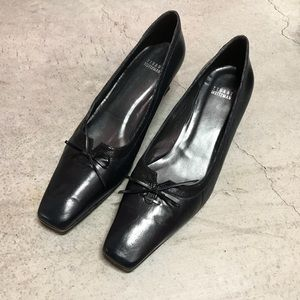 Stuart Weitzman Black Leather Heels 11.5